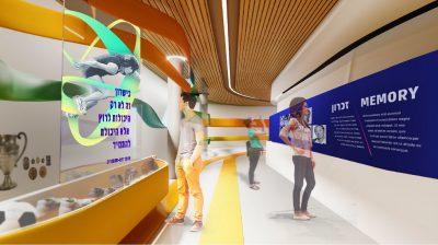 הדמיה של מוזיאון הספורט היהודי - תנועת מכבי, בריז קריאייטיב